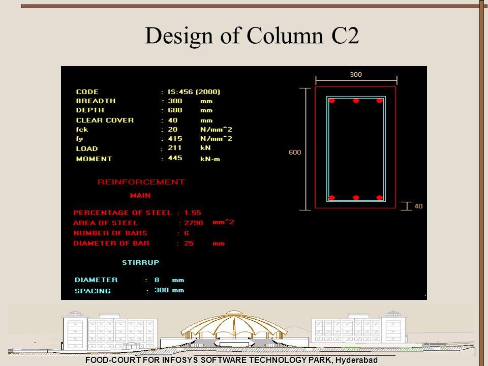 FOOD-COURT FOR INFOSYS SOFTWARE TECHNOLOGY PARK, Hyderabad Design of Column C2