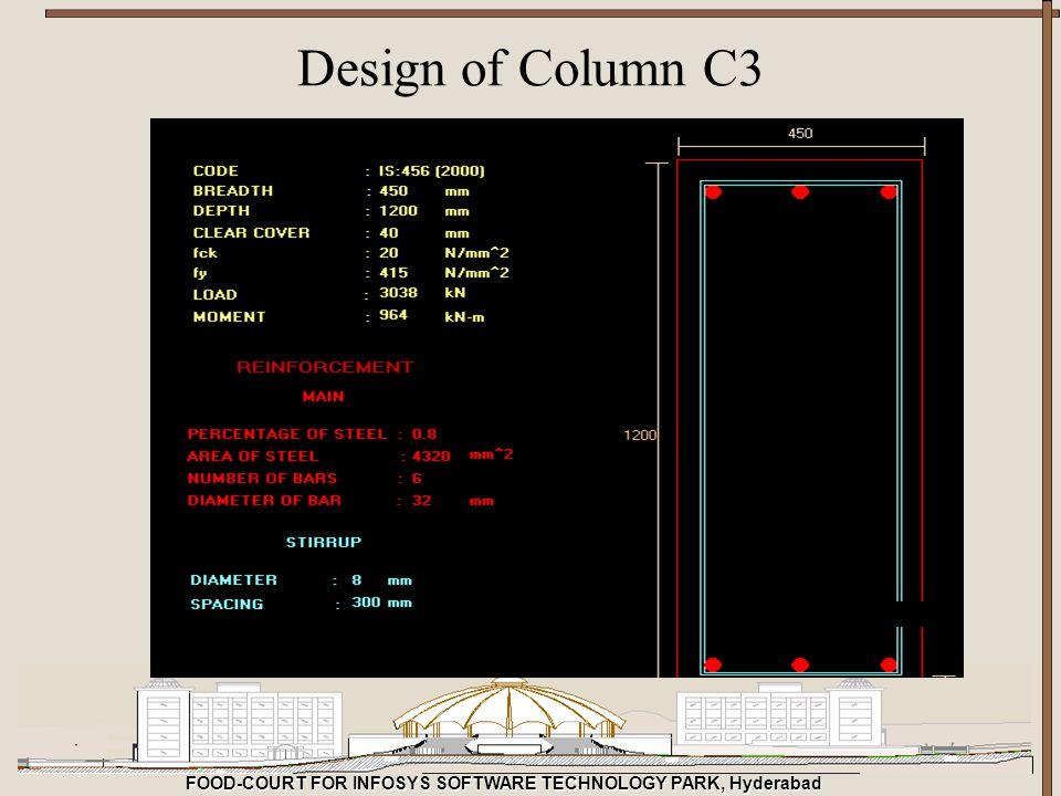 FOOD-COURT FOR INFOSYS SOFTWARE TECHNOLOGY PARK, Hyderabad Design of Column C3