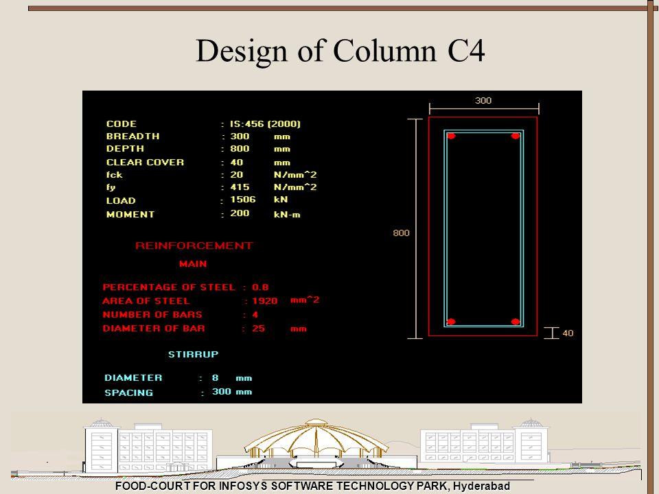FOOD-COURT FOR INFOSYS SOFTWARE TECHNOLOGY PARK, Hyderabad Design of Column C4