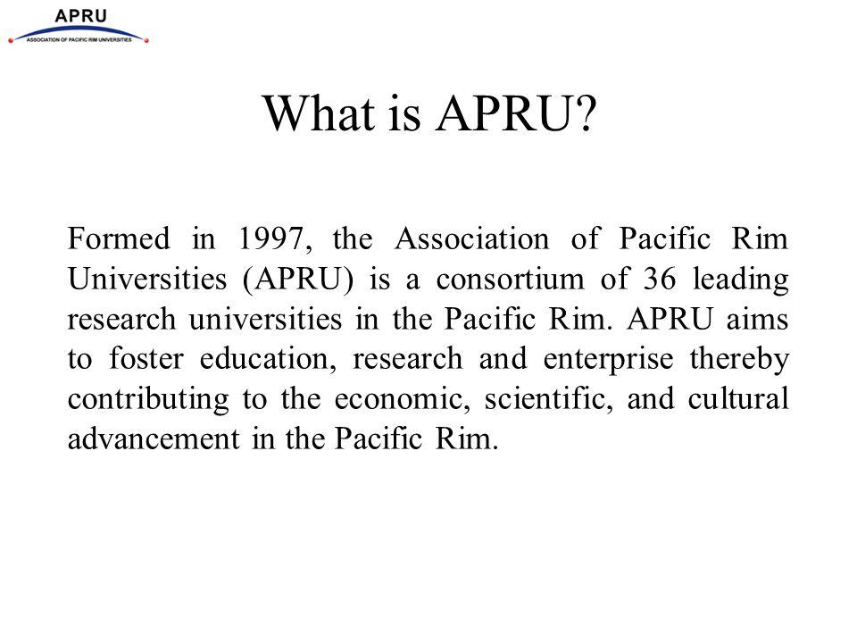 What is APRU.