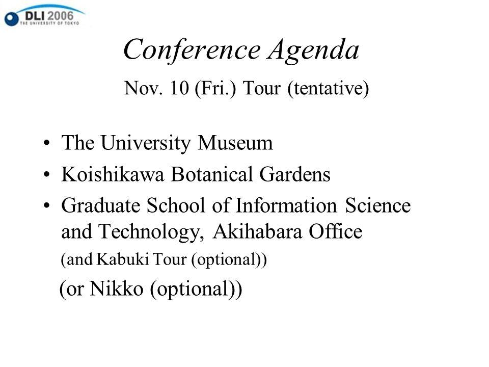 Conference Agenda Nov.