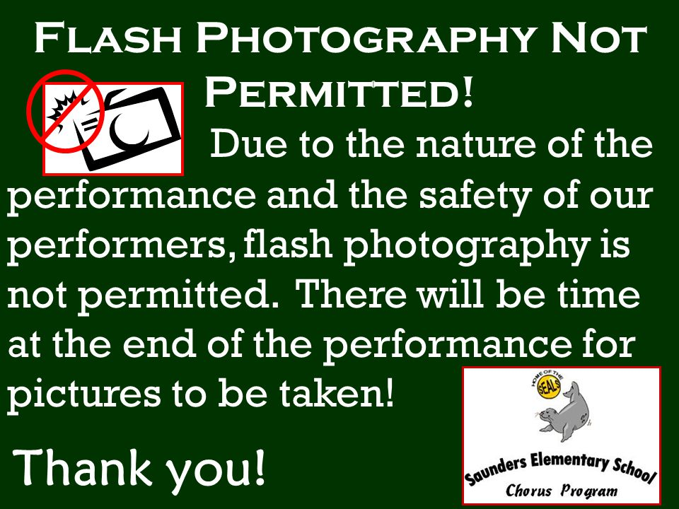 Flash Photography Not Permitted.