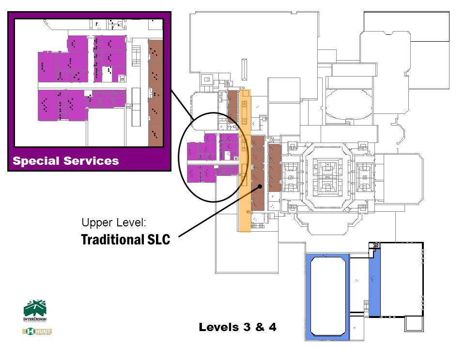 Levels 3 & 4 Special Services Upper Level: Traditional SLC
