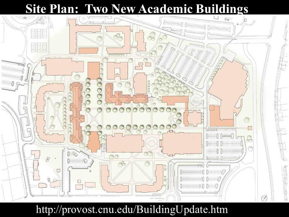Site Plan: Two New Academic Buildings http://provost.cnu.edu/BuildingUpdate.htm