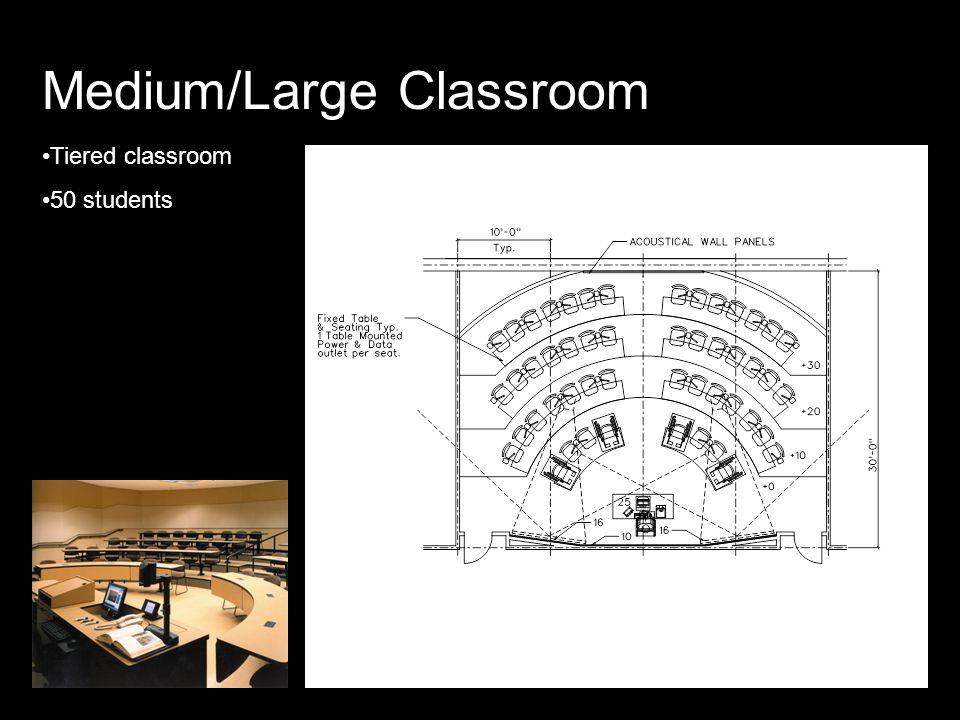 Medium/Large Classroom Tiered classroom 50 students