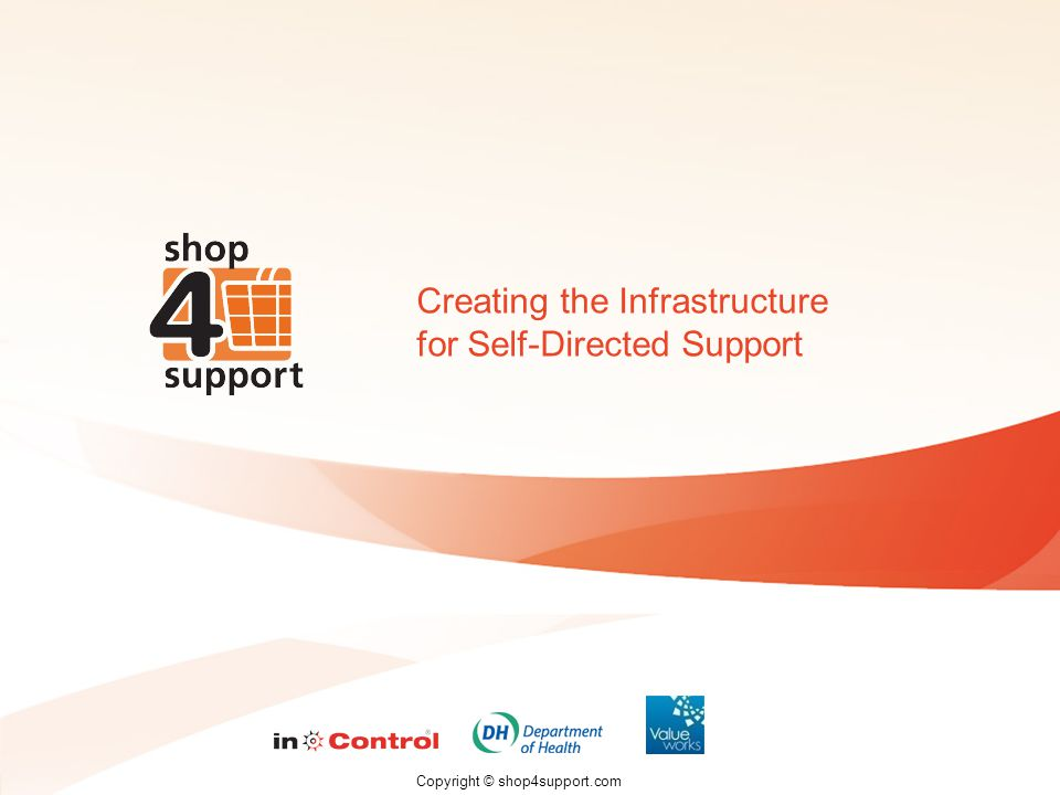 Copyright © shop4support.com Creating the Infrastructure for Self-Directed Support
