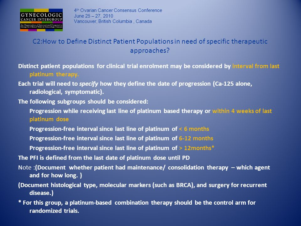 C2:How to Define Distinct Patient Populations in need of specific therapeutic approaches.
