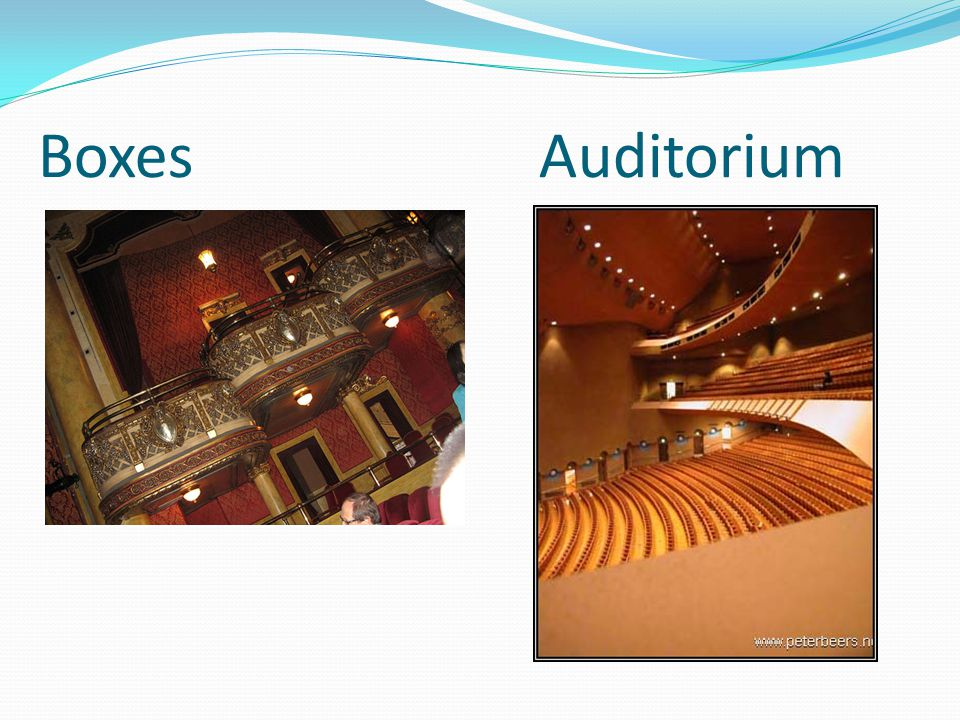 Boxes Auditorium