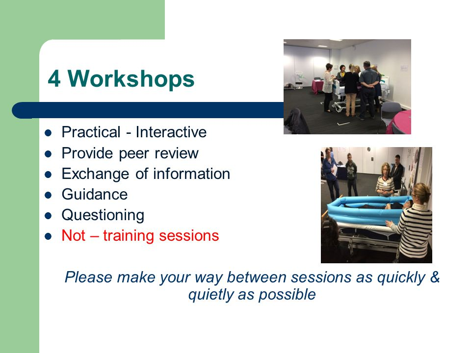 Open Forum (Auditorium) Friendly Not training session Facilitated Interactive Peer review Ideas