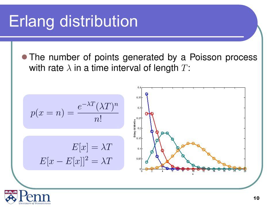 10 Erlang distribution