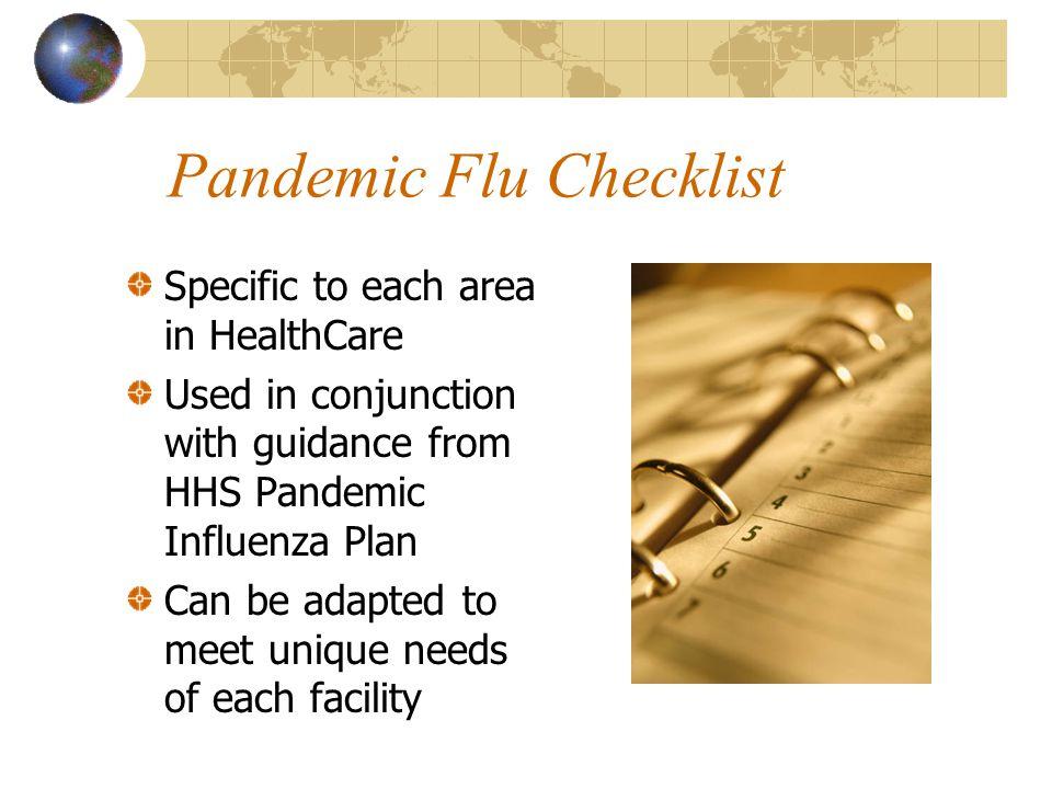 Establishing a Planning Structure PanFlu Committee PanFlu Coordinator Point of Contact Written Plan
