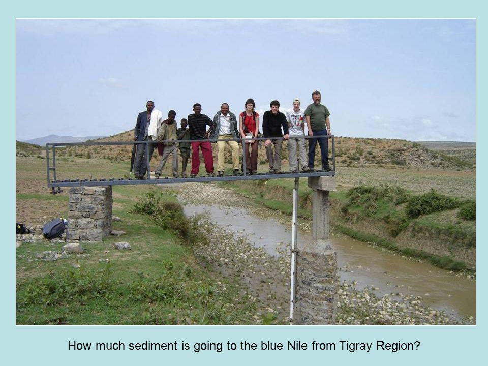 How much sediment is going to the blue Nile from Tigray Region?