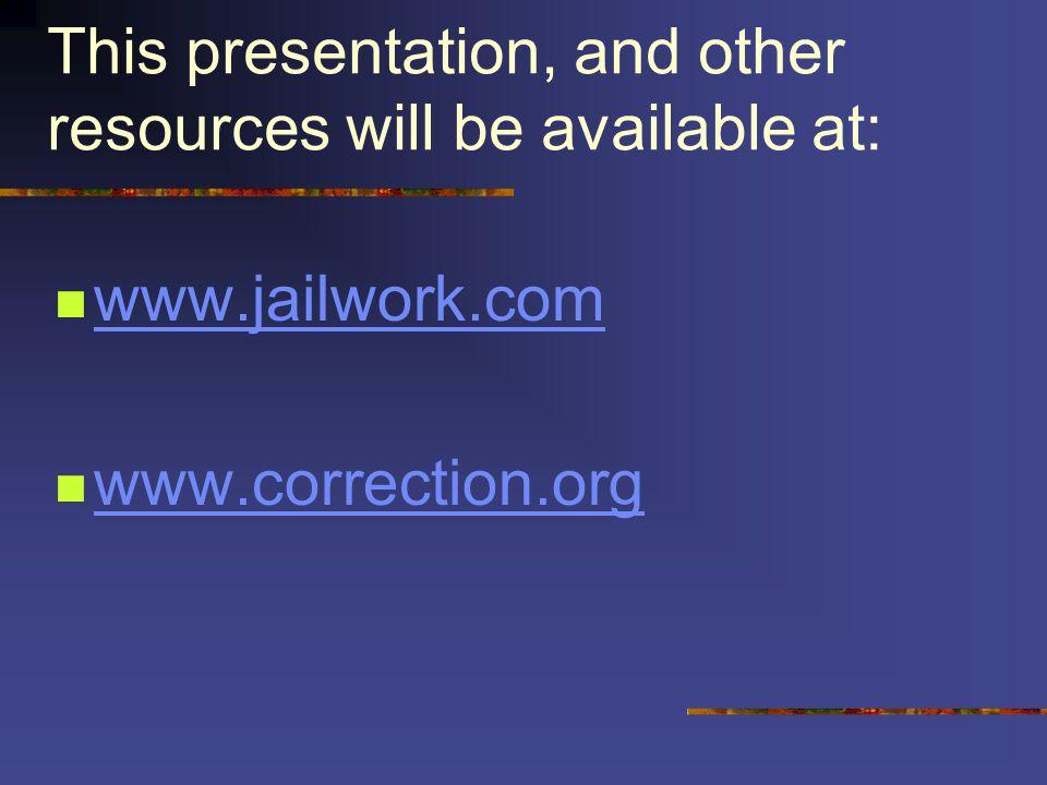 HELP! (?) www.jailwork.comwww.jailwork.com Or www.correction.orgwww.correction.org