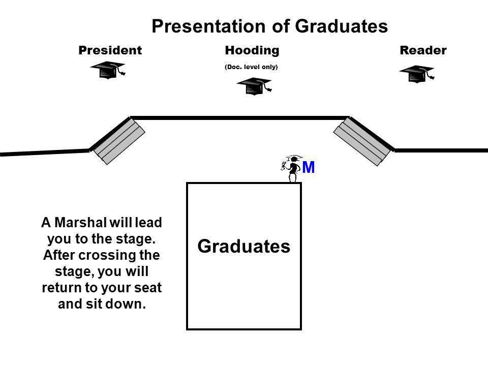 Graduates M PresidentReaderHooding (Doc.