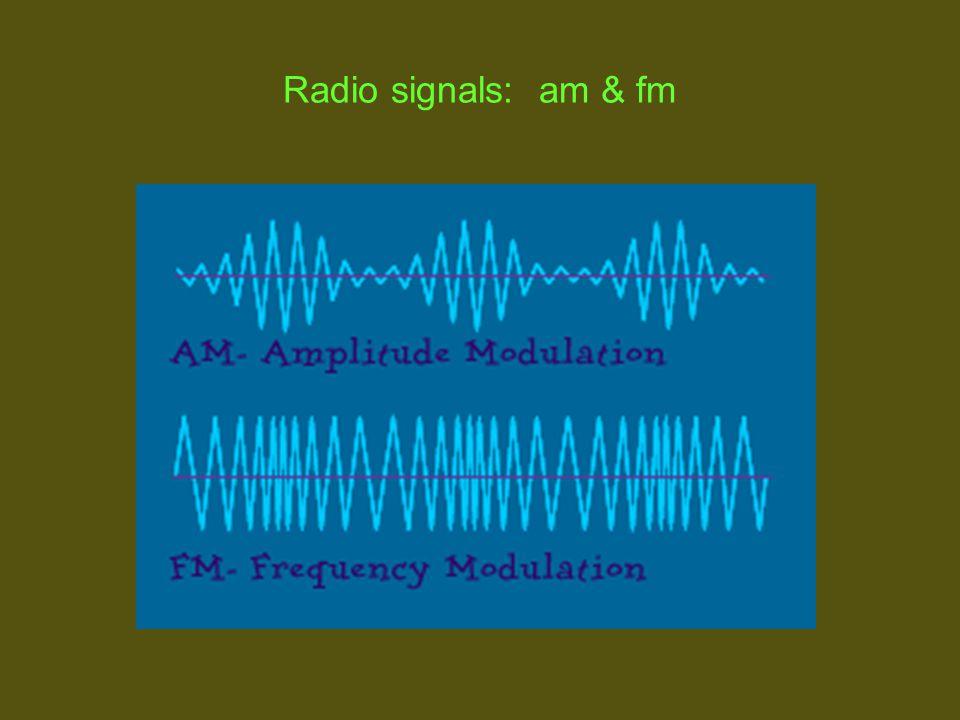 Radio signals: am & fm