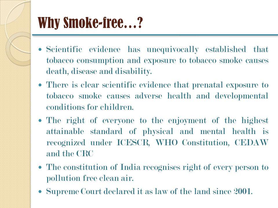 Why Smoke-free….