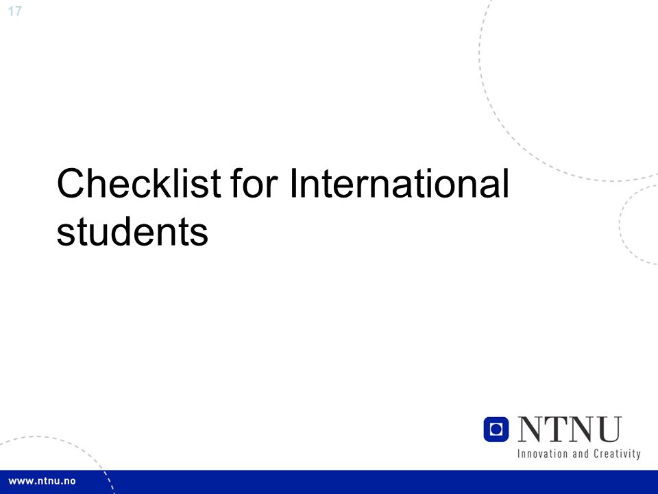 17 Checklist for International students