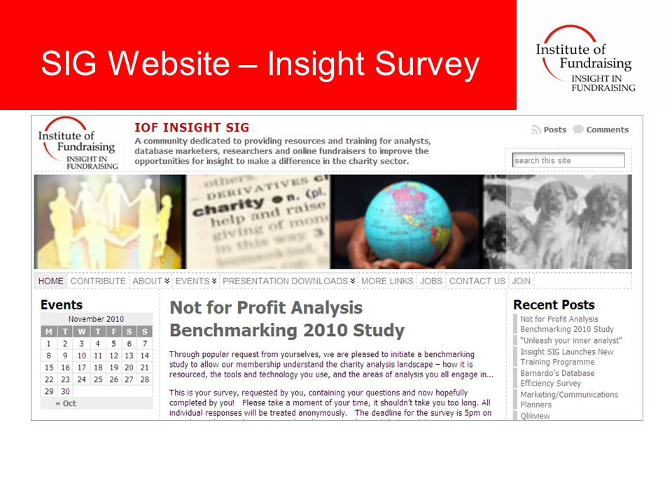 SIG Website – Insight Survey