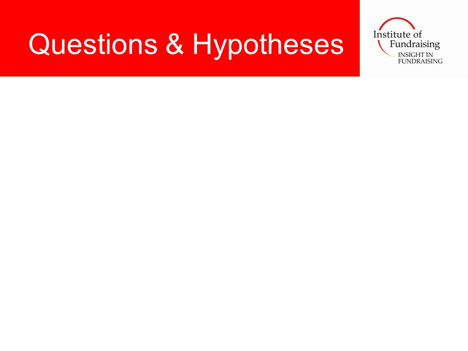 Questions & Hypotheses