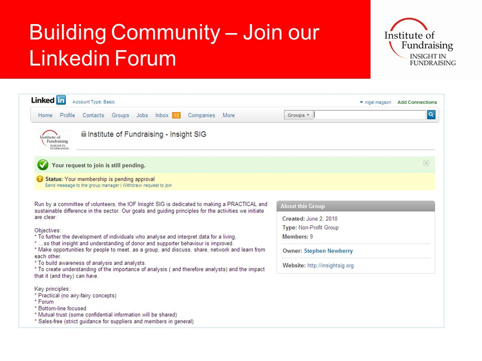 Building Community – Join our Linkedin Forum