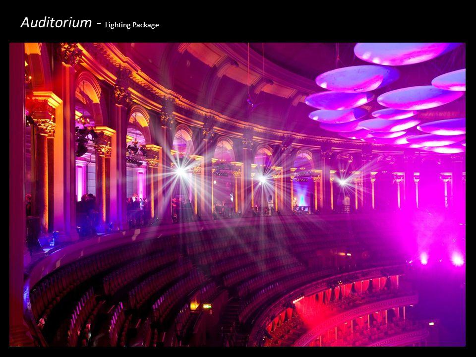 Auditorium - Lighting Package