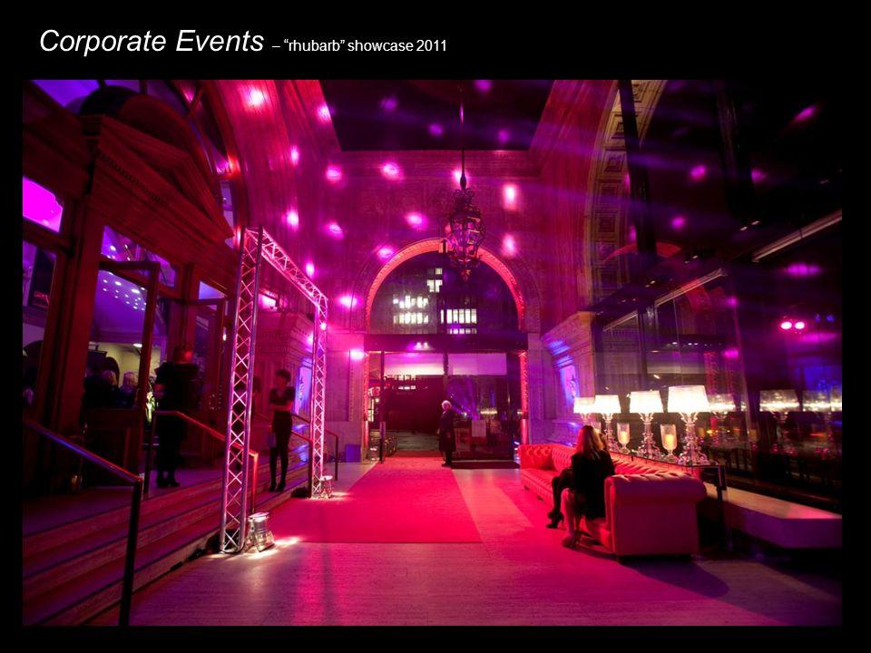 Corporate Events – rhubarb showcase 2011