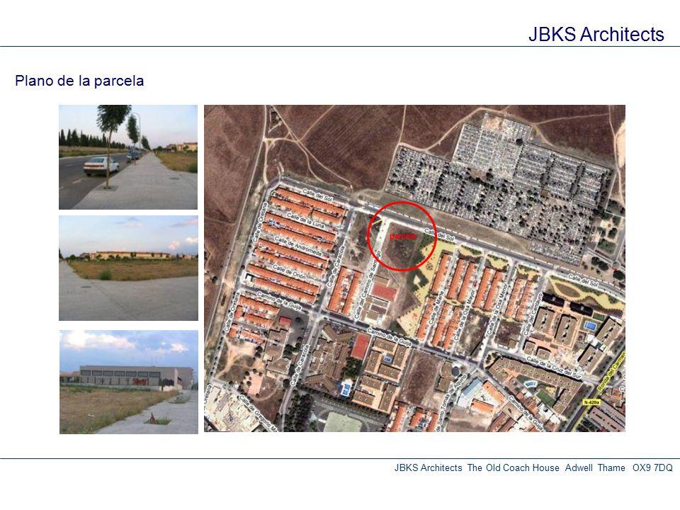 JBKS Architects Plano de la parcela JBKS Architects The Old Coach House Adwell Thame OX9 7DQ parcela