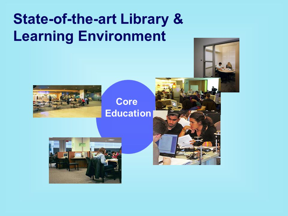 State-of-the-art Library & Learning Environment Core Education