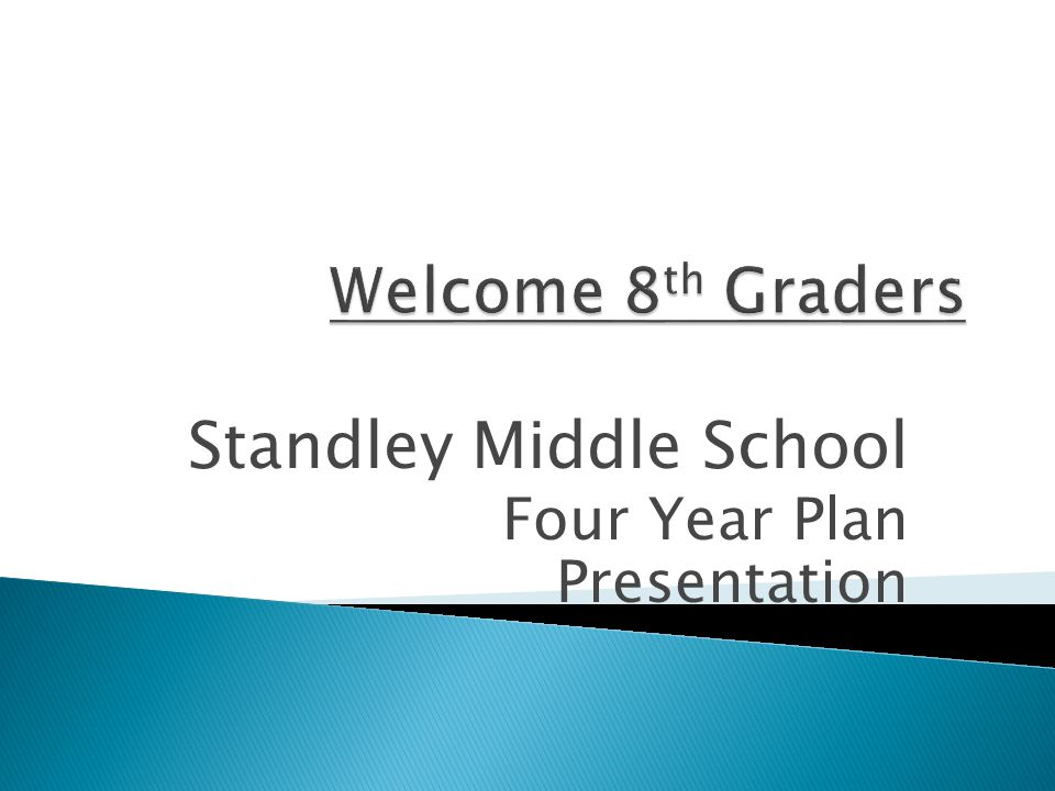 Standley Middle School Four Year Plan Presentation