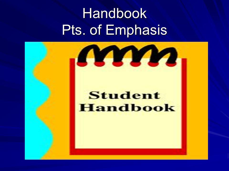 Handbook Pts. of Emphasis