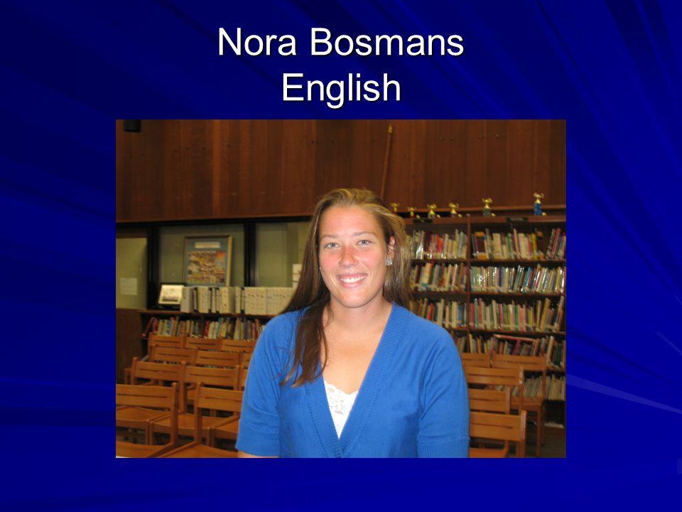 Nora Bosmans English