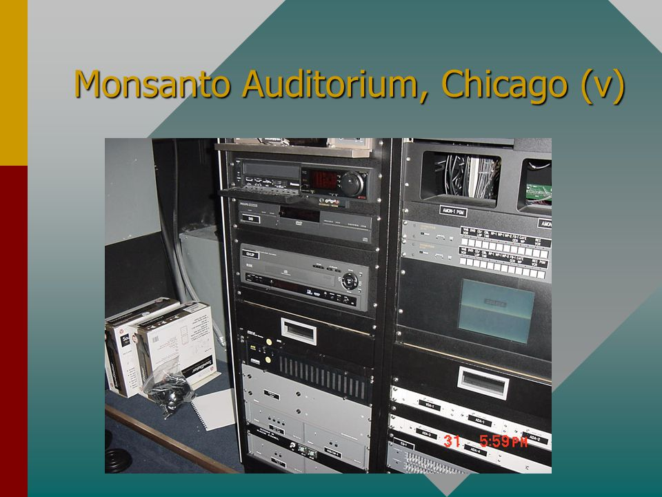 Monsanto Auditorium, Chicago (iv)