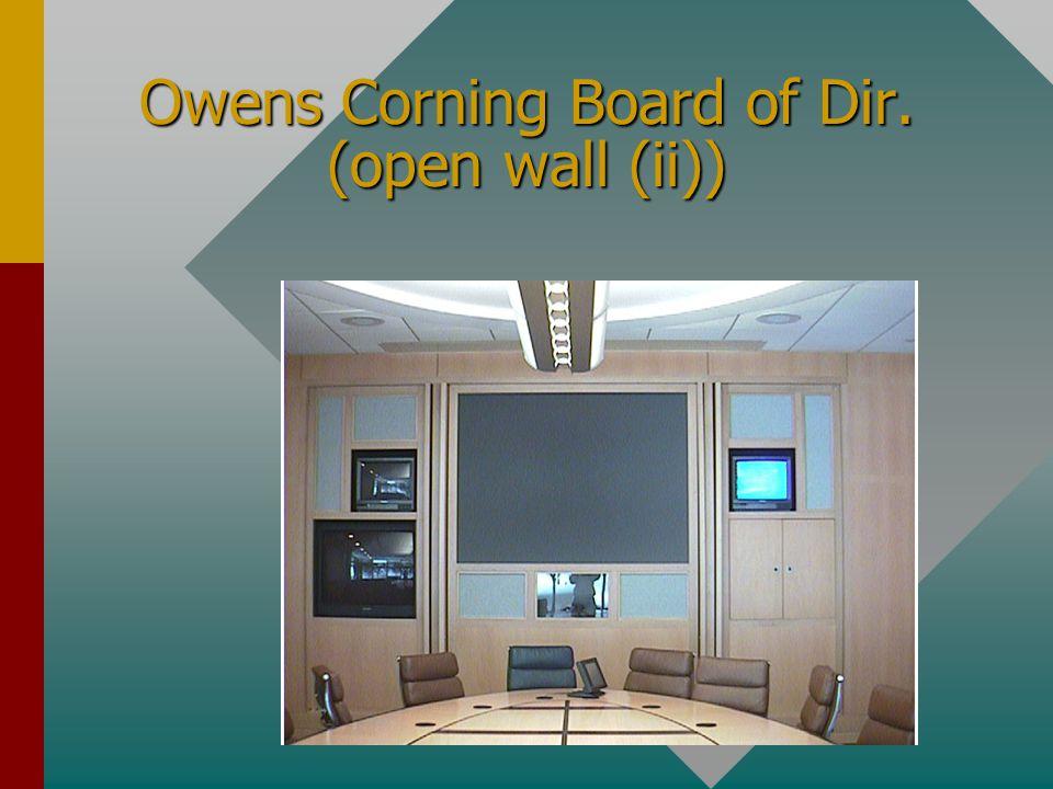 Owens Corning Board of Dir. (open wall (I))