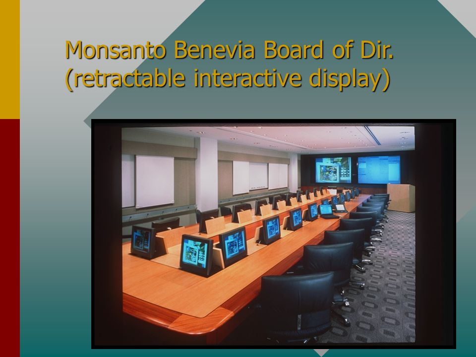 Monsanto Benevia Board of Dir. (retractable interactive display)