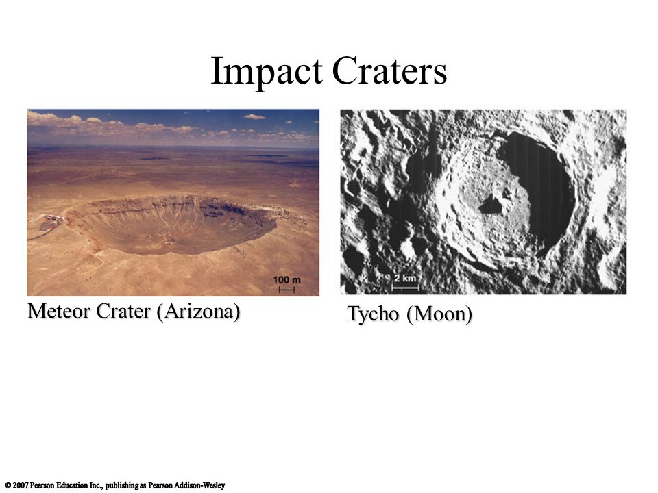 Impact Craters Meteor Crater (Arizona) Tycho (Moon)