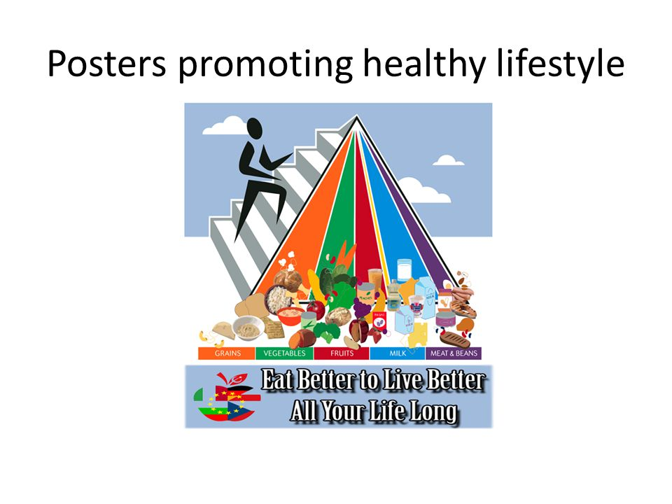 Posters promoting healthy lifestyle