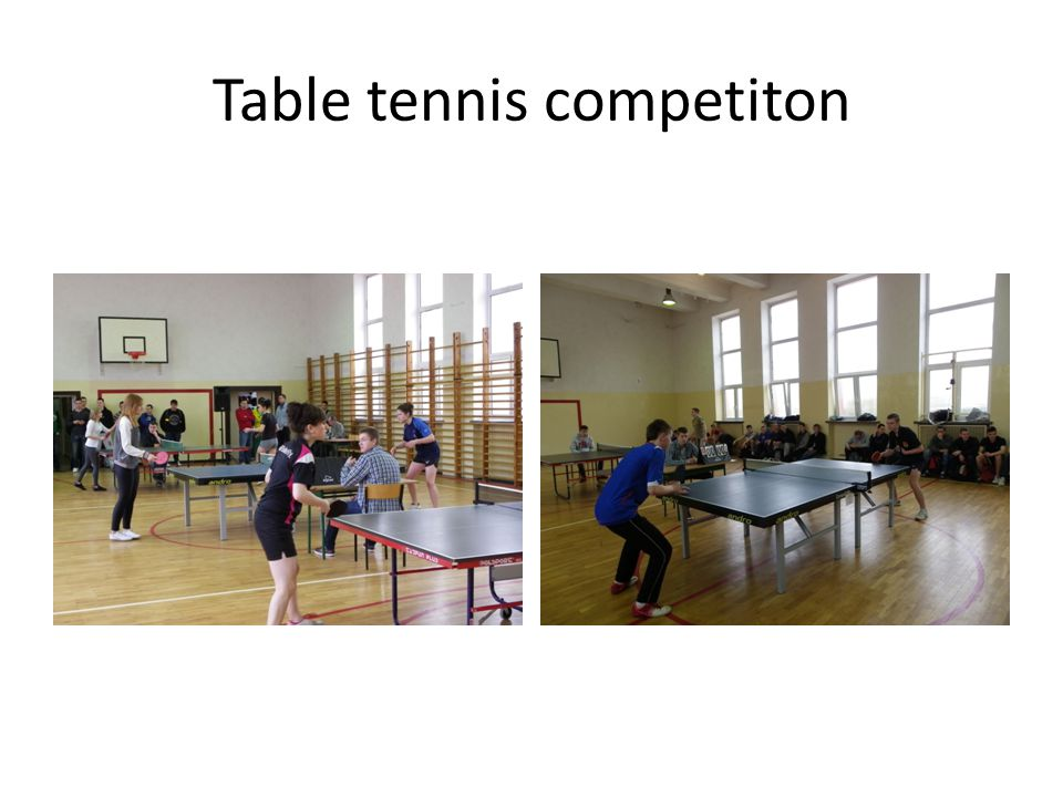 Table tennis competiton