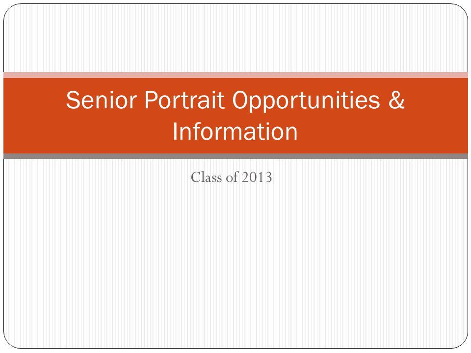 Class of 2013 Senior Portrait Opportunities & Information