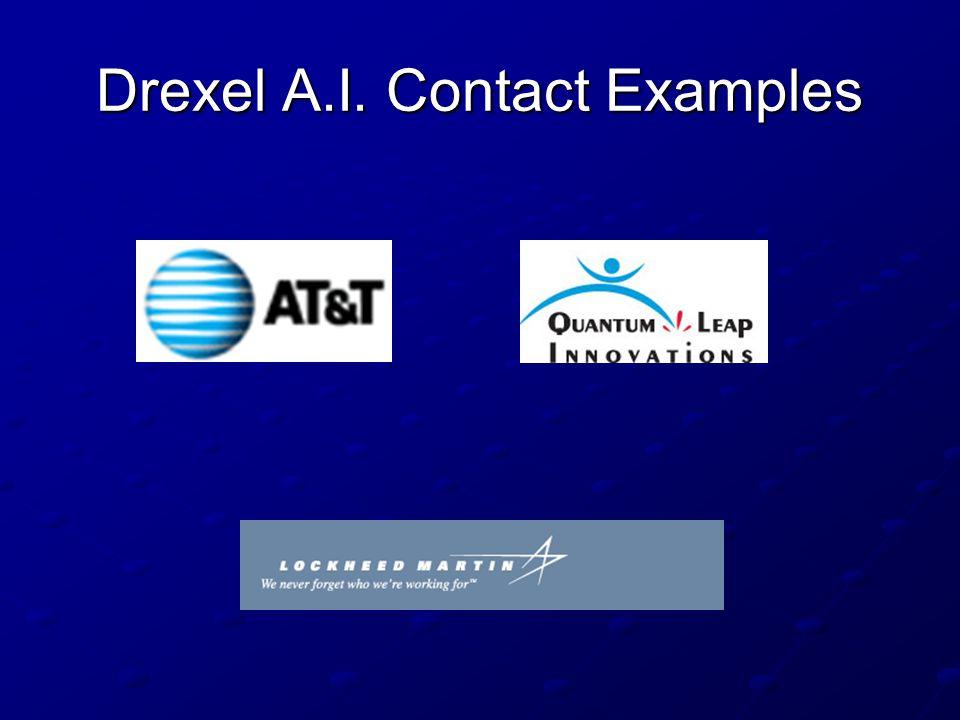 Drexel A.I. Contact Examples