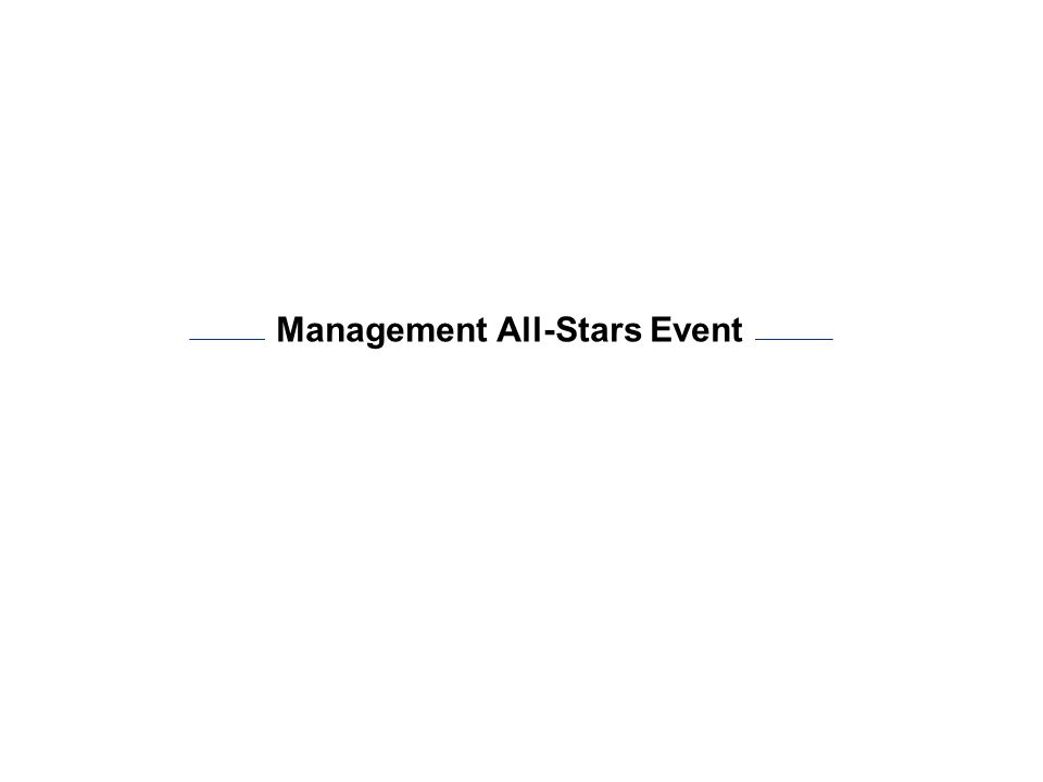 Management All-Stars Event