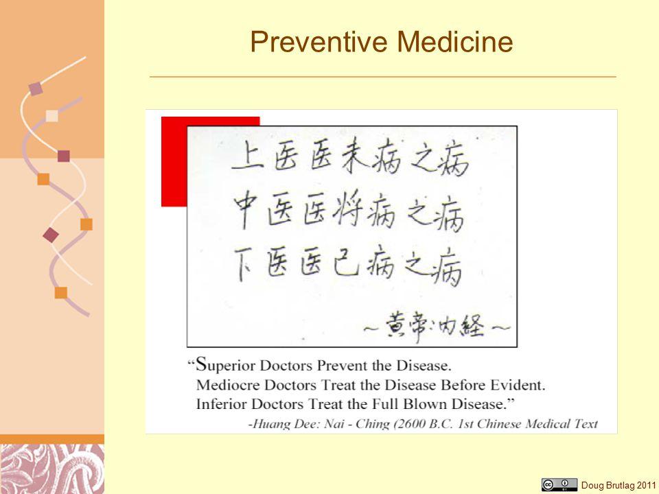 Doug Brutlag 2011 Preventive Medicine