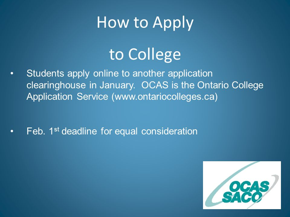 Students apply online to another application clearinghouse in January.