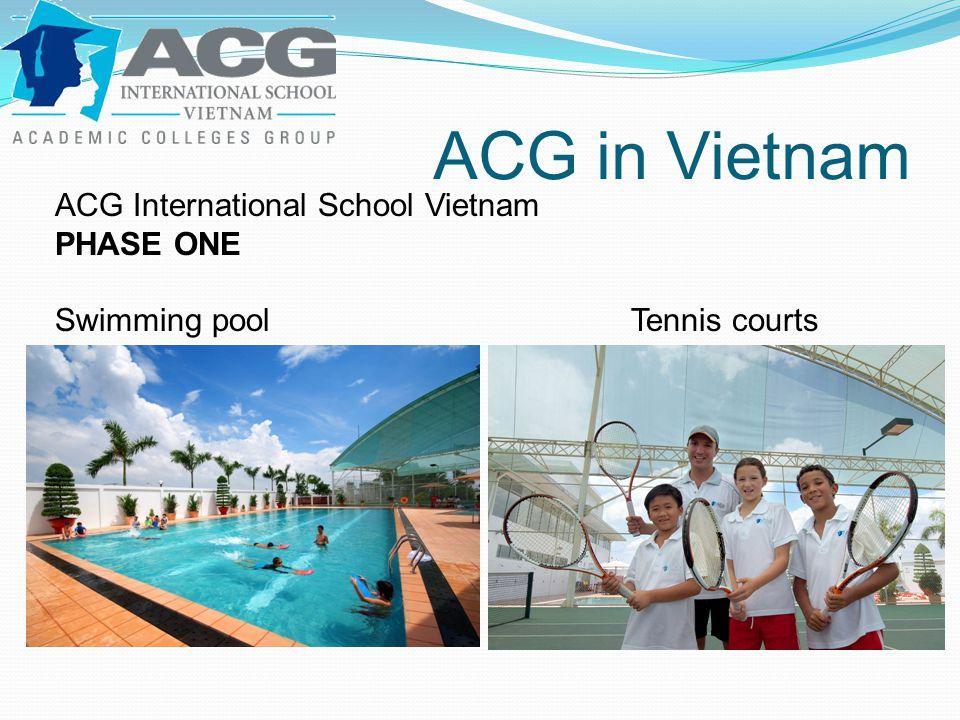 ACG in Vietnam ACG International School Vietnam PHASE ONE Swimming poolTennis courts