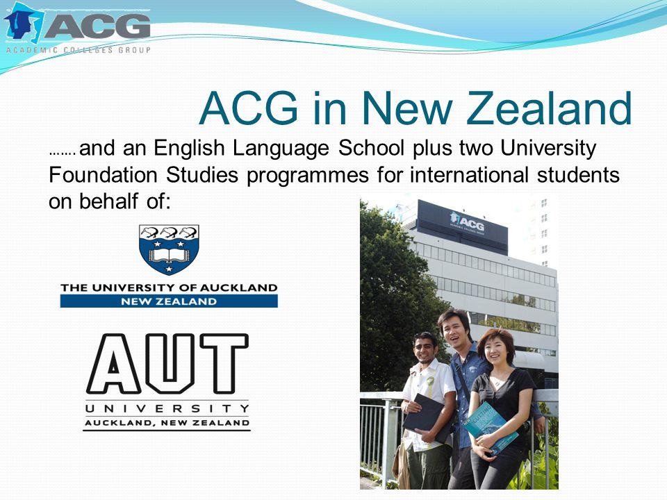 ACG in New Zealand …….