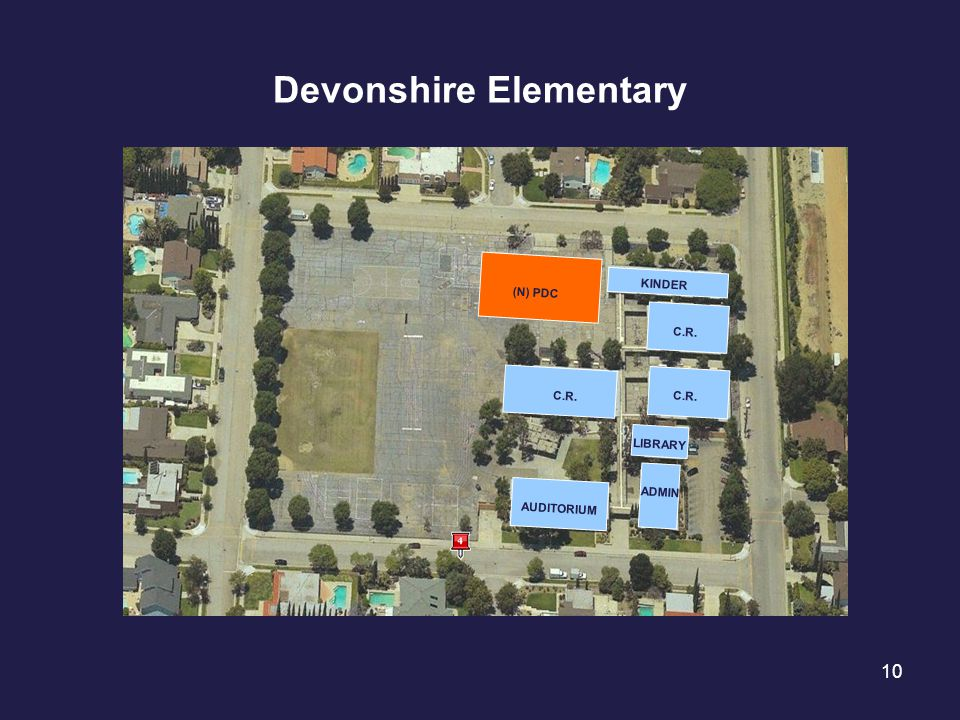 10 Devonshire Elementary C.R. KINDER LIBRARY AUDITORIUM ADMIN (N) PDC