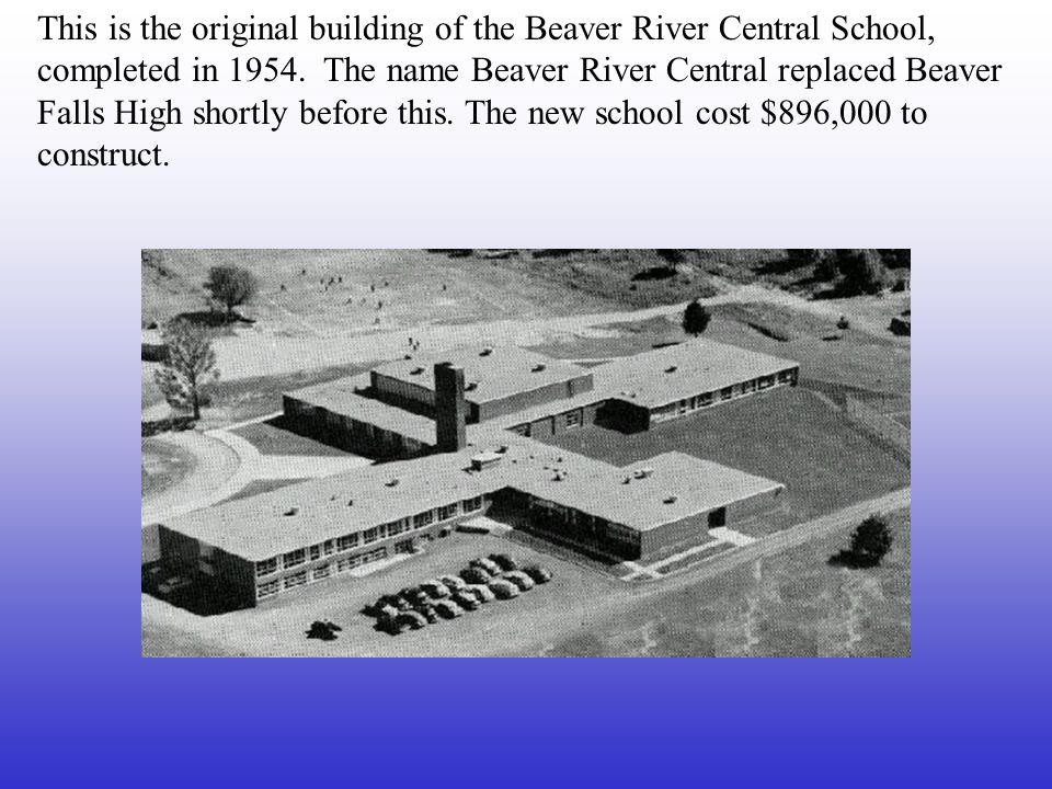 This building was dedicated on January 13, 1928. In June this school graduated its first class: two girls and three boys.