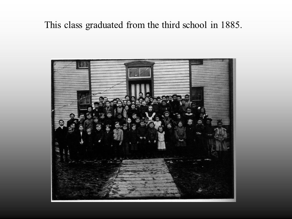 "Around 1875 a third school was built in Beaver Falls. It was known as "" the school with the partition."" The partition served as a divider to separate"