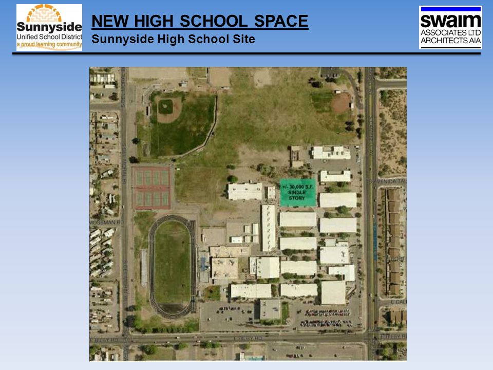 NEW HIGH SCHOOL SPACE Sunnyside High School Site