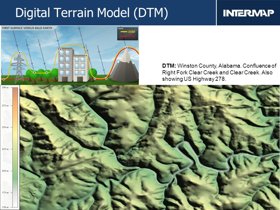 11 Digital Terrain Model (DTM) DTM: Winston County, Alabama.