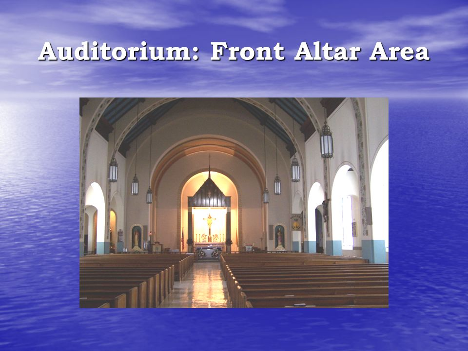 Auditorium: Front Altar Area